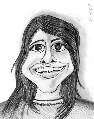 Quick caricature of the overly attached grilfriend_sunof.net