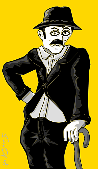 character inspired by a pic of charlie chaplin_sunof.net