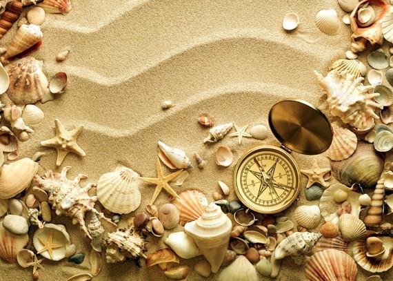 boussole dans le sable